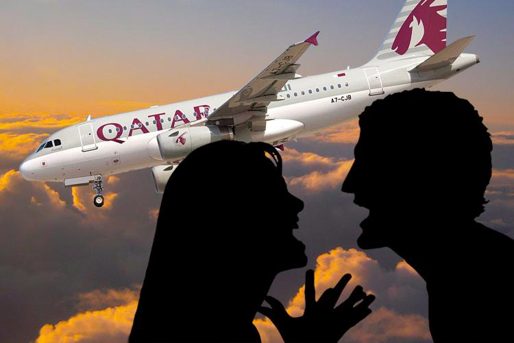 couple-fighting-in-qatar-airways